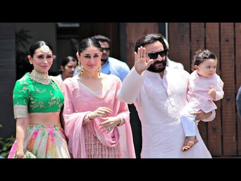 Xxx Mp4 Kareena Kapoor With Taimur Ali Khan Saif Ali Khan Karishma Kapoor Arrive At Sonam Kapoor Wedding 3gp Sex