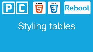 HTML5 and CSS3 beginners tutorial 43 - styling tables