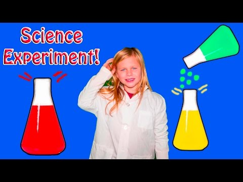 ASSISTANT Science Experiement Liquid Lava with Oil and Water Kids Learning STEM Video