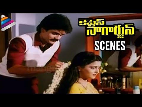 Captain Nagarjuna Movie Scenes | Nagarjuna and Kushboo Getting Married