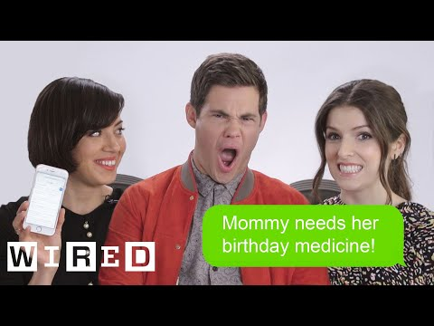 Anna Kendrick, Aubrey Plaza & Adam DeVine Show Us The Last Thing on Their Phones | WIRED