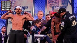 Boxer Gets Hit in Nuts At Weigh-In By Opponents Son