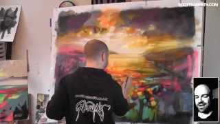 Abstract Landscape Painting: Particles
