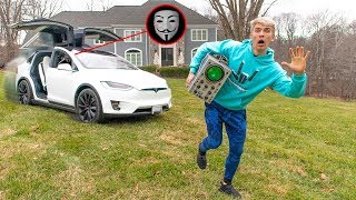 GAME MASTER ABANDONED TESLA CONTROLLED by PROJECT ZORGO (Testing Top Secret Spy Gadget Found)