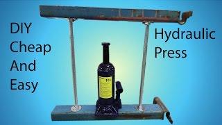 DIY Cheap and Easy Hydraulic Press