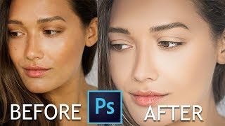 How to CLEAN and SHARP Image in Photoshop - Photoshop Face Retouching Tutorial