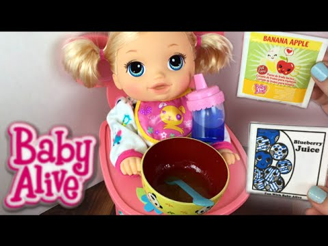 Crawling Baby Alive Go Bye Bye Doll Morning Routine Feeding and Diaper Change