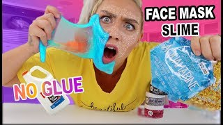 1 INGREDIENT SLIME! TESTING NO GLUE SLIME RECIPES!! MULTIPLE PEEL OFF FACE MASK RECIPES SLIME #1