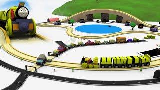 Toy factory cartoon - Train for children - Cartoon train - toy train cartoon for children