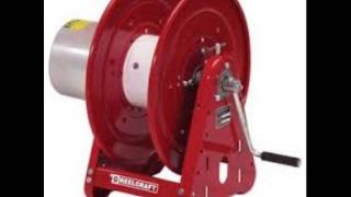 Coxreels 1125WCL 6 C Large Capacity Hand Crank Welding Cable Reel for arc welding holds up to 300 of