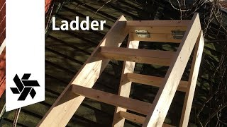 DIY Folding Ladder // Woodworking Project