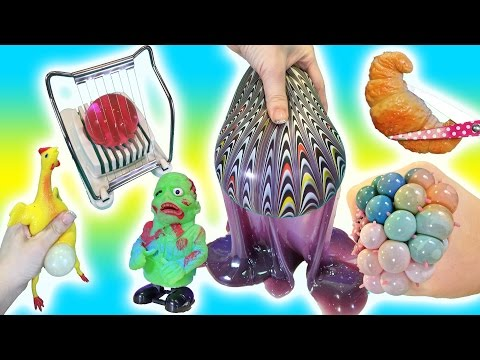 Cutting Open Squishy ZOMBIE Toys! GIANT Orbeez in Egg Slicer Homemade Stress Ball Doctor Squish