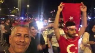 مواطنون من كفركنا يشاركون في المظاهرات المؤيّدة لأردوغان في تركيا