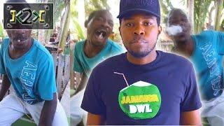 JAMAICAN MAN CHEWS LIT CIGARETTE! - @Kevin2wokrayzee