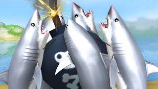 SHARKS GO BOOM! - Amazing Frog - Part 150 | Pungence