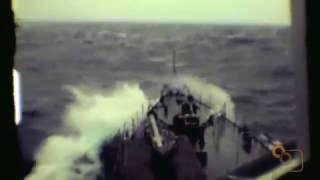Nave Airone F 545 nella tempesta anno 1982