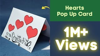 Pop Up Valentine Card - Hearts Pop Up Card Step by Step