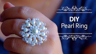 Beautiful Pearl ring | How to make pearl ring at home | DIY |