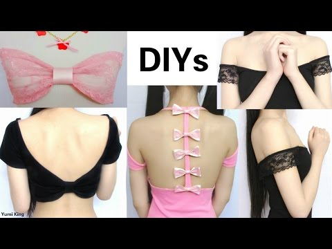 DIYs: 4 Ways to Revamp Your Old Tops(No Sew/Sew): DIY See through Bandeau+More+Sailor Outfits Review