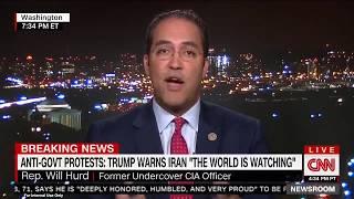 Rep. Will Hurd talks Iran protests on CNN Newsroom.