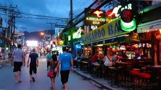 Bangla Road Early Evening Walk - Phuket, Thailand