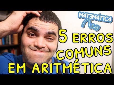 watch 5 ERROS COMUNS EM ARITMÉTICA | Matemática Rio