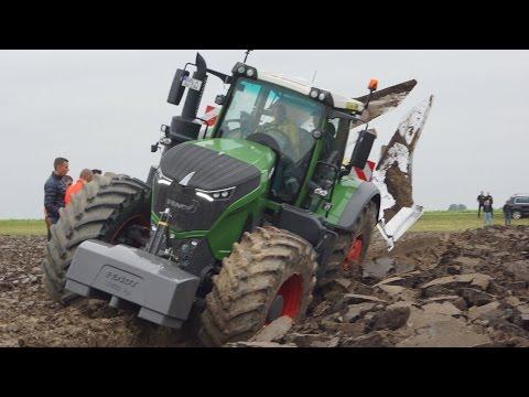 Fendt 1050 Vario diepploegen . bij Van Werven deep ploughing Trekkerweb pure sound