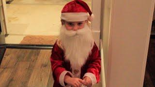 """""""Tiny"""" Santa Claus visits Ollie - 2015"""
