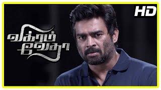 Vikram Vedha Movie Scenes | Madhavan realises his mistake | Prem gets shot | Shraddha
