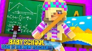 Minecraft BABY SCHOOL EP 1-LEAH IS THE NEW TEACHER!!! Minecraft Adventures
