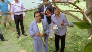 Attarintiki Daredi Comedy Scenes || Brahmanandam Hilarious Comedy ( Leaves Falling Down From Tree)