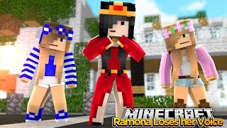 Minecraft Royal Family : RAMONA LOSES HER VOICE! w/ Little Kelly & Little Carly