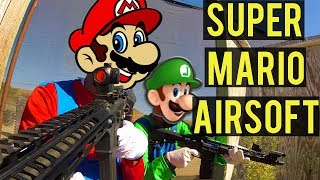 Super Mario Bros. Airsoft | Halloween Special with House Gamers and Dutch The Hooligan