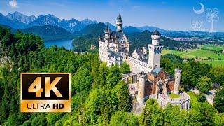 Neuschwanstein Castle Drone In 4K