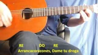 Cómo Tocar Arranca Corazones Attaque 77 - Tutorial Guitarrra