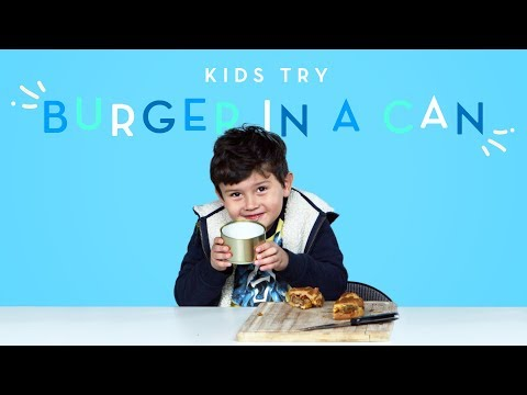 Kids Try a Burger in a Can Kids Try HiHo Kids