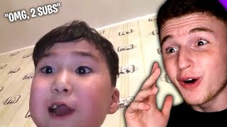 Kid FREAKS OUT over hitting 2 subscribers..