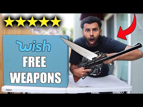 I Bought Every Free DANGEROUS WEAPON On WISH MYSTERY BOX