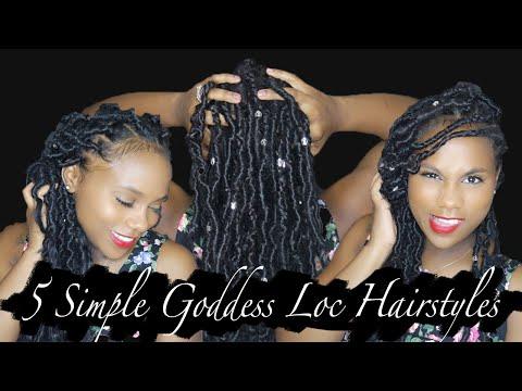 Xxx Mp4 5 SIMPLE Hairstyles W Goddess Locs Shardel Haden 3gp Sex