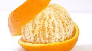 Orange Peeling Trick In An Easy Way : Life Hack