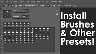 Photoshop Tutorial: How to Download & Install New Brushes & other Presets