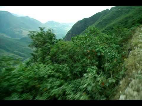 Trayecto Huancabamba Piura Perú