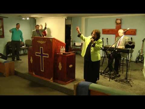 Betty Jean Robinson singing It s Gonna Rain at Greater Rain Community Church