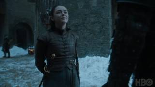 Fight scene between Arya Stark and Brianne. (Game Of Thrones season 7 episode 4)