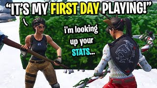 I met the biggest FAKE NOOB on Fortnite... (HE LIED TO ME 10 TIMES!)