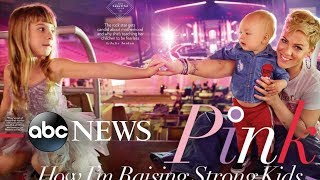 Pink graces the cover of the