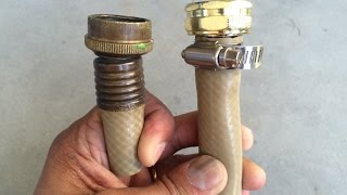 How to fix damaged end of a garden hose