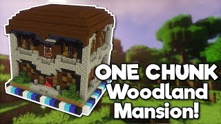 Minecraft: Woodland Mansion in ONE CHUNK! [Tutorial]