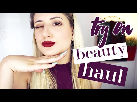 TRY ON BEAUTY HAUL: JEFFREE STAR, MAQUILLALIA, BECCA, ZOEVA, AVRIL | The Lady