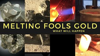 MELTING FOOLS GOLD START TO FINISH WHAT WILL HAPPEN -PYRITE SMELTING IRON ORE JULY 2017